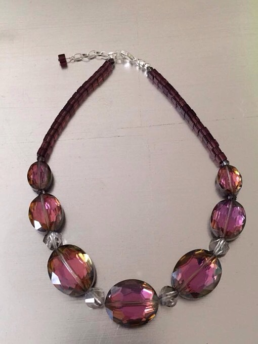 Black Cherry Crystal Statement