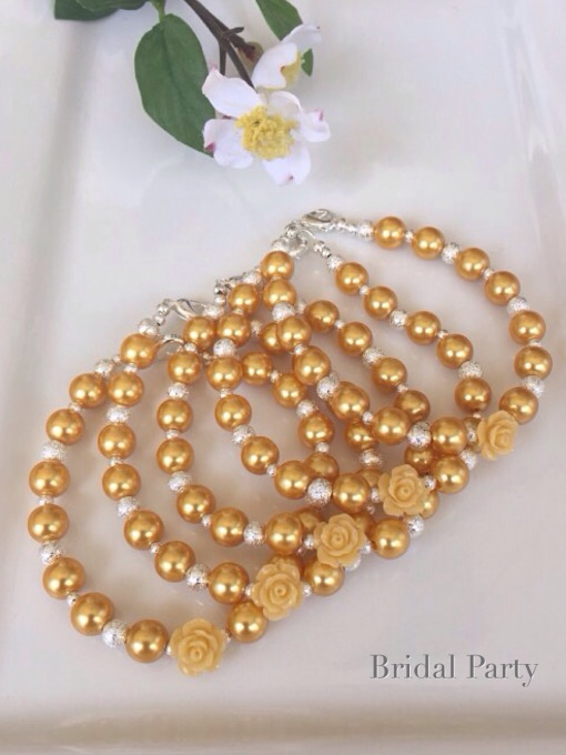 Custom Starburst & Yellow Rose Bracelets