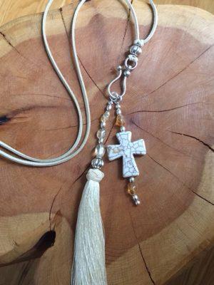 Creative Cross & Tassel Necklace