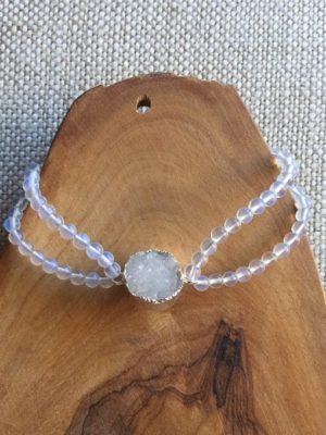 Opalite & Agate Bracelet