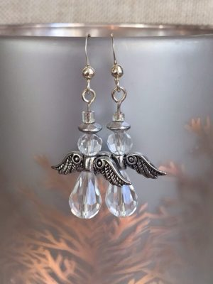 Clear Angel Earrings